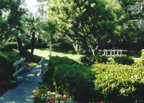 Vacation Rental condo grounds at North Coast Village, Oceanside CA