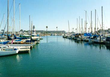 the Oceanside marina north of our vacation rentals, click to enlarge