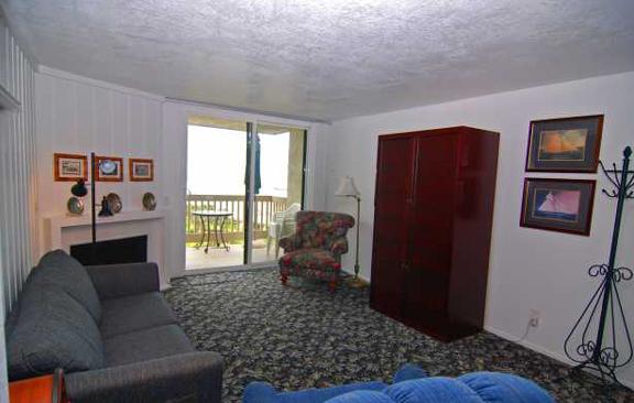 Two Bedroom Condo Beach Al Enlarged Living Area Portion Sliding Patio Door Faces The Ocean